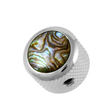MK-3178 Q-Parts Natural Abalone Dome Knob Q-PARTS, INC. Chrome - HIENDGUITAR.COM