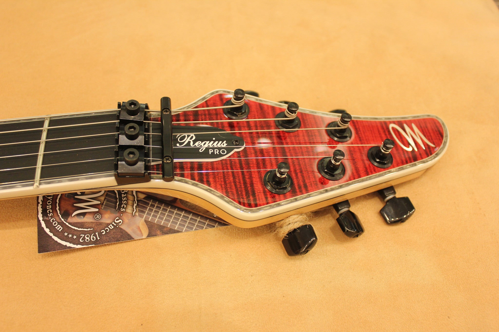 Mayones Regius PRO 6 Transparent Red Caparison - HIENDGUITAR.COM