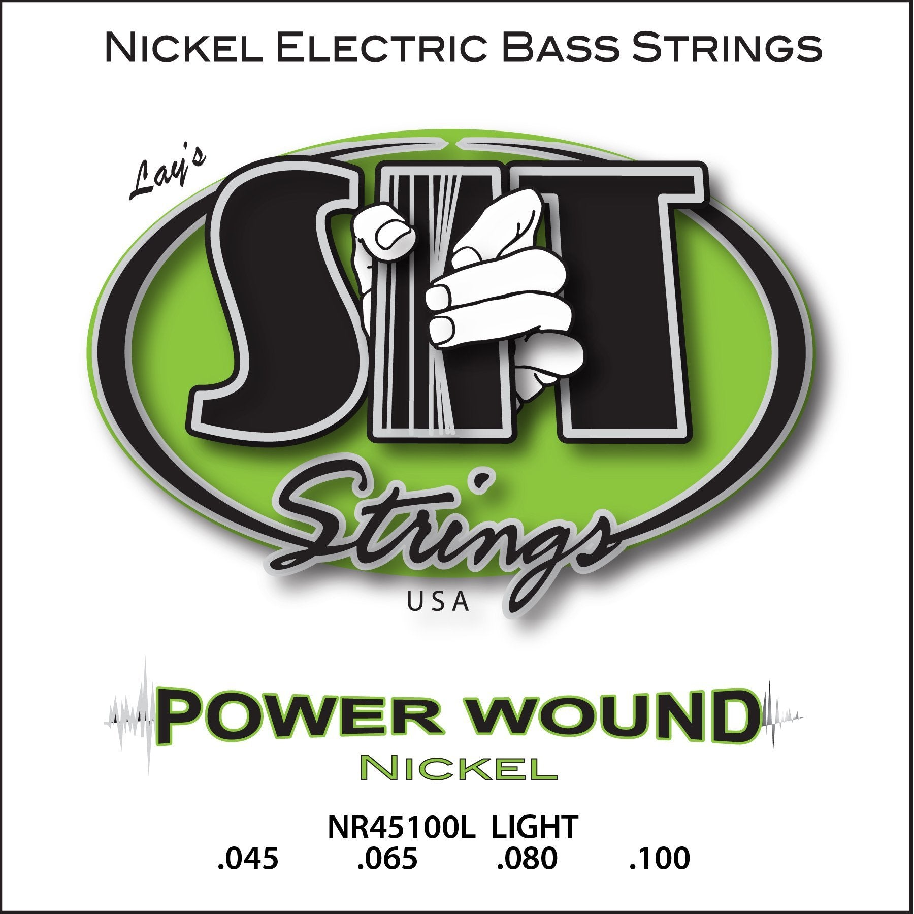 NR45100L LIGHT POWER WOUND NICKEL BASS      SIT STRING