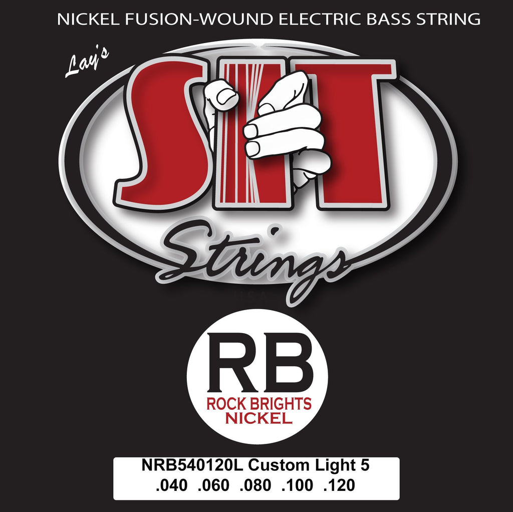 NRB540120L 5-STRING CUSTOM LIGHT ROCK BRIGHT NICKEL BASS      SIT STRING