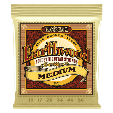 Ernie Ball Earthwood Medium 80/20 Bronze Acoustic Guitar Strings - 13-56 Gauge Ernieball - HIENDGUITAR.COM