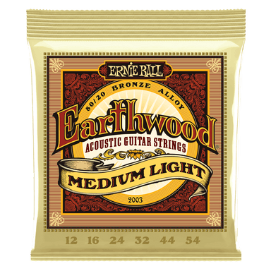 Ernie Ball Earthwood Medium Light 80/20 Bronze Acoustic Guitar Strings - 12-54 Gauge Ernieball - HIENDGUITAR.COM