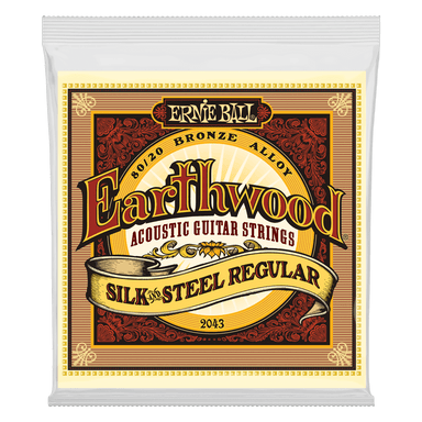 Ernie Ball Earthwood Silk & Steel Regular 80/20 Bronze Acoustic Guitar Strings - 13-56 Gauge Ernieball - HIENDGUITAR.COM