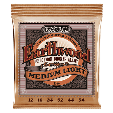 Ernie Ball Earthwood Medium Light Phosphor Bronze Acoustic Guitar Strings - 12-54 Gauge Ernieball - HIENDGUITAR.COM