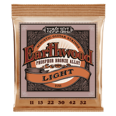 Ernie Ball Earthwood Light Phosphor Bronze Acoustic Guitar Strings - 11-52 Gauge Ernieball - HIENDGUITAR.COM