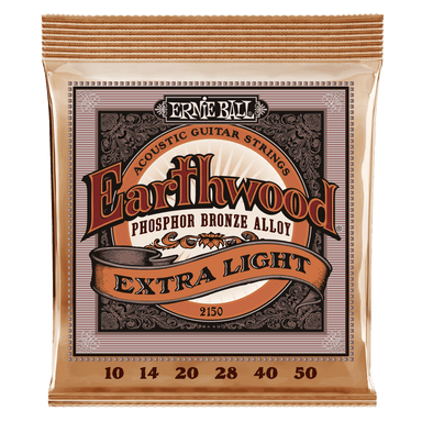 Ernie Ball Earthwood Extra Light Phosphor Bronze Acoustic Guitar Strings - 10-50 Gauge Ernieball - HIENDGUITAR.COM