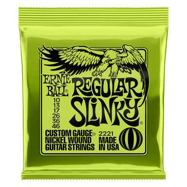 ERNIEBALL REGULAR SLINKY NICKEL WOUND ELECTRIC GUITAR STRINGS - 10-46 GAUGE ernieball - HIENDGUITAR.COM