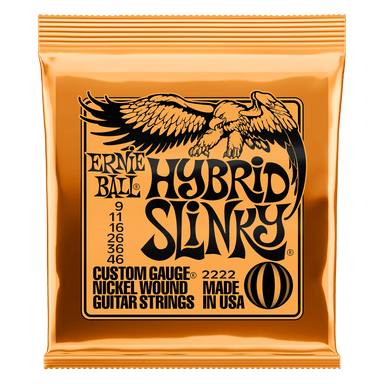 Ernie Ball Hybrid Slinky Nickel Wound Electric Guitar Strings - 9-46 Gauge Ernieball - HIENDGUITAR.COM
