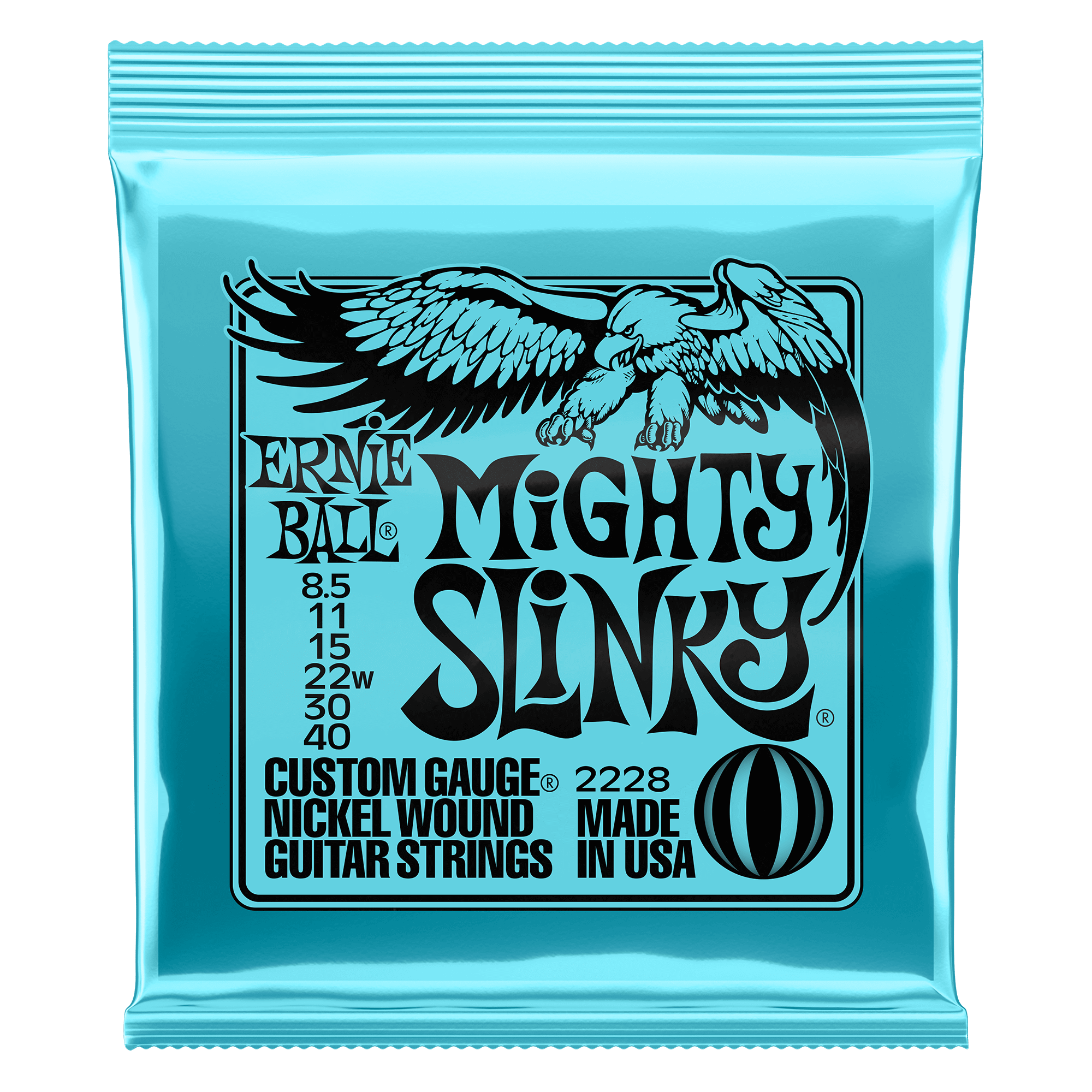 Ernie ball Mighty Slinky Nickel Wound Electric Guitar Strings 8.5 - 40 Gauge Ernieball - HIENDGUITAR.COM