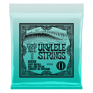 Ernie Ball Concert/Soprano Nylon Ball End Ukulele Strings Black Ernieball - HIENDGUITAR.COM