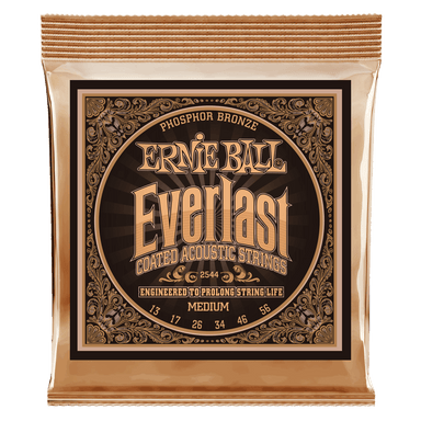 Ernie Ball Everlast Medium Coated Phosphor Bronze Acoustic Guitar Strings - 13-56 Gauge Ernieball - HIENDGUITAR.COM