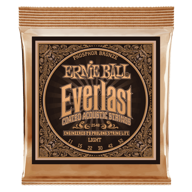 Ernie Ball Everlast Light Coated Phosphor Bronze Acoustic Guitar Strings - 11-52 Gauge Ernieball - HIENDGUITAR.COM