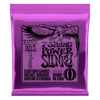 Ernie Ball Power Slinky 7-String Nickel Wound Electric Guitar Strings - 11-58 Gauge Ernieball - HIENDGUITAR.COM