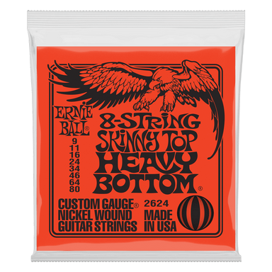 Ernie Ball Skinny Top Heavy Bottom Slinky 8-String Electric Guitar Strings - 9-80 Gauge Ernieball - HIENDGUITAR.COM