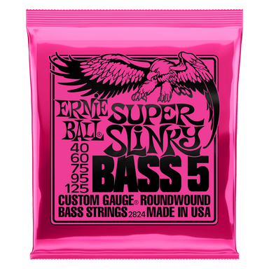 Ernie Ball Super Slinky 5-String Nickel Wound Electric Bass Strings - 40-125 Gauge Ernieball - HIENDGUITAR.COM
