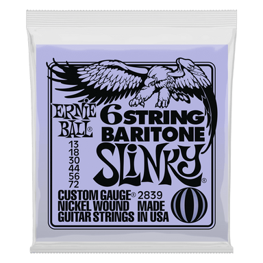 Ernie Ball Slinky 6-String w/ small ball end 29 5/8 scale Baritone Guitar Strings - 13-72 Gauge Ernieball - HIENDGUITAR.COM
