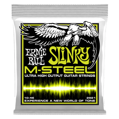 Ernie Ball Regular Slinky M-Steel Electric Guitar Strings - 10-46 Gauge Ernieball - HIENDGUITAR.COM