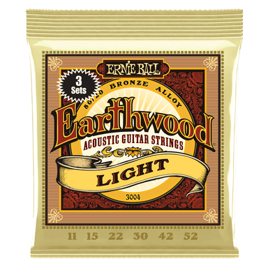 Ernie Ball Earthwood Light 80/20 Bronze Acoustic Guitar Strings 3-Pack - 11-52 Gauge Ernieball - HIENDGUITAR.COM