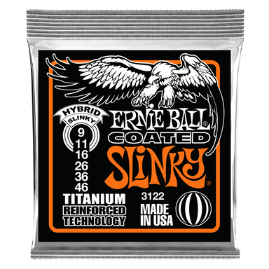 Ernie Ball Hybrid Slinky Coated Titanium RPS Electric Guitar Strings - 9-46 Gauge Ernieball - HIENDGUITAR.COM