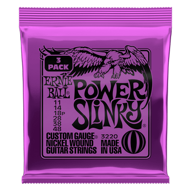 Ernie Ball Power Slinky Nickel Wound Electric Guitar Strings 3 Pack - 11-48 Gauge - HIENDGUITAR   Ernieball Electric Sets