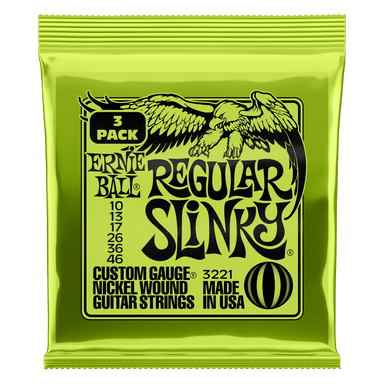 Ernie Ball Regular Slinky Nickel Wound Electric Guitar Strings 3 Pack - 10-46 Gauge Ernieball - HIENDGUITAR.COM