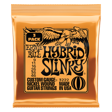 Ernie Ball Hybrid Slinky Nickel Wound Electric Guitar Strings 3 Pack - 9-46 Gauge Ernieball - HIENDGUITAR.COM