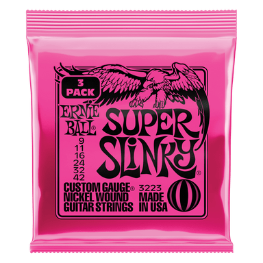 Ernie Ball Super Slinky Nickel Wound Electric Guitar Strings 3 Pack - 9-42 Gauge Ernieball - HIENDGUITAR.COM