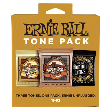 Ernie Ball Light Acoustic Tone Pack - 11-52 Gauge Ernieball - HIENDGUITAR.COM