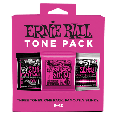 Ernie Ball Super Slinky Electric Tone Pack - 9-42 Gauge Ernieball - HIENDGUITAR.COM