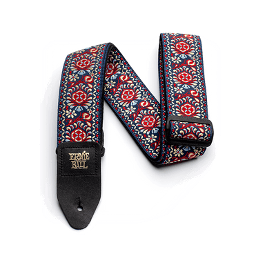 Ernie Ball Royal Bloom Jacquard Guitar Strap - HIENDGUITAR   Ernieball Straps