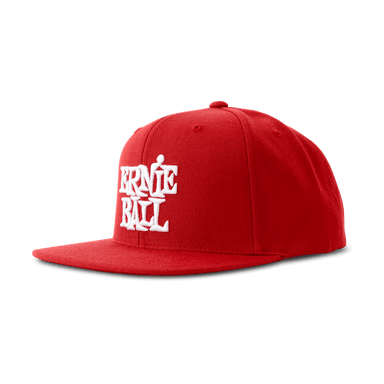 Ernie Ball Red with White Stacked Ernie Ball Logo Hat Ernieball - HIENDGUITAR.COM