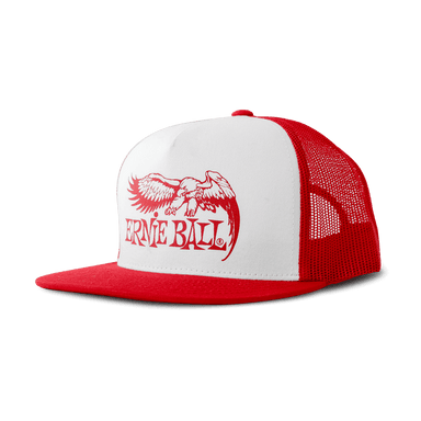 Ernie Ball Eagle Hat Red With White Front and Red Logo Ernieball - HIENDGUITAR.COM