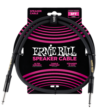 Ernie Ball 3' Straight / Straight Speaker Cable Ernieball - HIENDGUITAR.COM