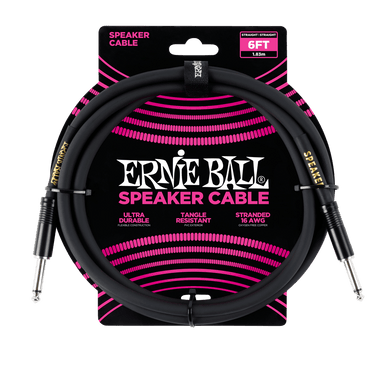 Ernie Ball 6' Straight / Straight Speaker Cable Ernieball - HIENDGUITAR.COM
