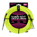 Ernieball 18' BRAIDED STRAIGHT / ANGLE INSTRUMENT CABLE NEON - YELLOW ernieball - HIENDGUITAR.COM