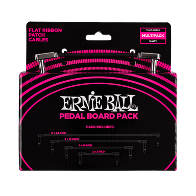 Ernieball FLAT RIBBON PATCH CABLES PEDALBOARD MULTI-PACK P06224 Ernieball - HIENDGUITAR.COM