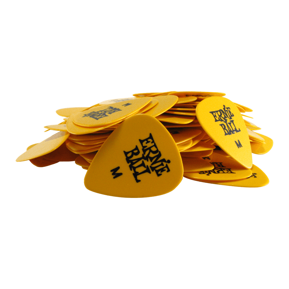 Ernie Ball Medium Yellow Cellulose Picks, bag of 144 Ernieball - HIENDGUITAR.COM