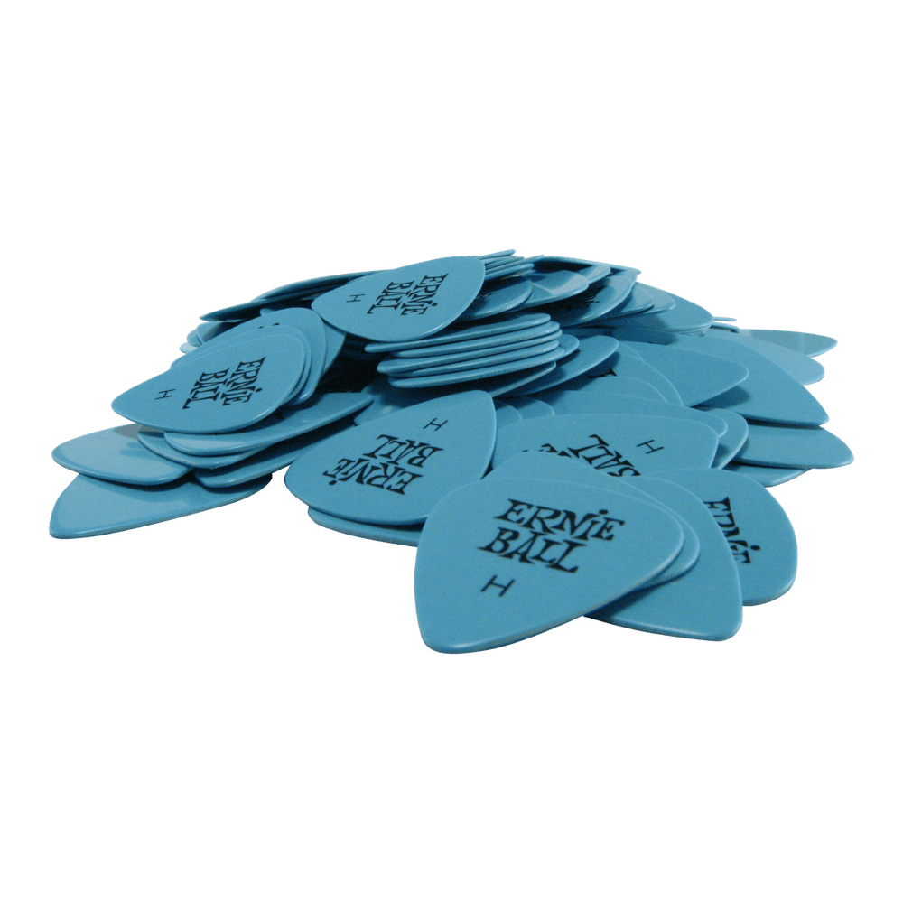 Ernie Ball Heavy Blue Cellulose Picks bag of 144 Ernieball - HIENDGUITAR.COM