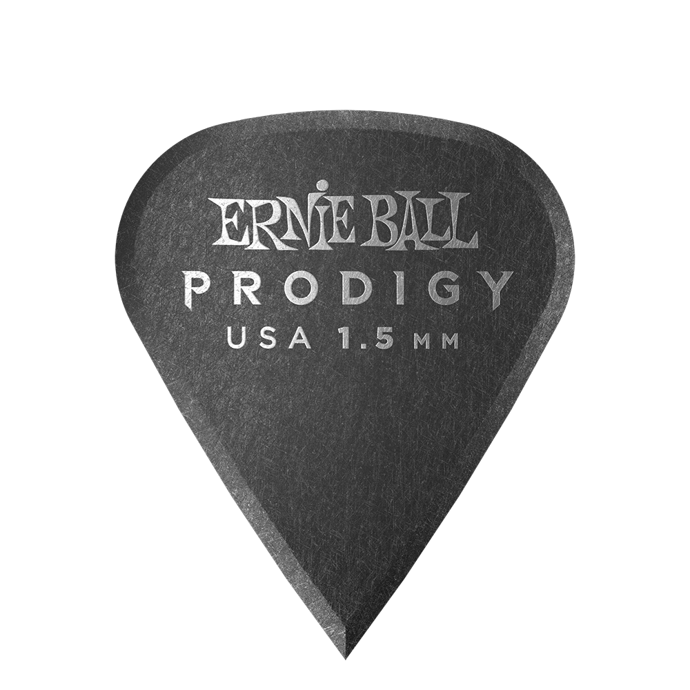 Ernie Ball 1.5mm Black Sharp Prodigy Picks 6-pack Ernieball - HIENDGUITAR.COM