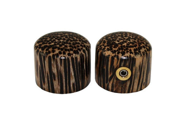 PK-3196 Set of 2 Tigerwood Knobs TALWAR-JISHNU - HIENDGUITAR.COM