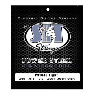 PS1046 LIGHT POWER STEEL STAINLESS ELECTRIC SIT STRING SIT - HIENDGUITAR.COM