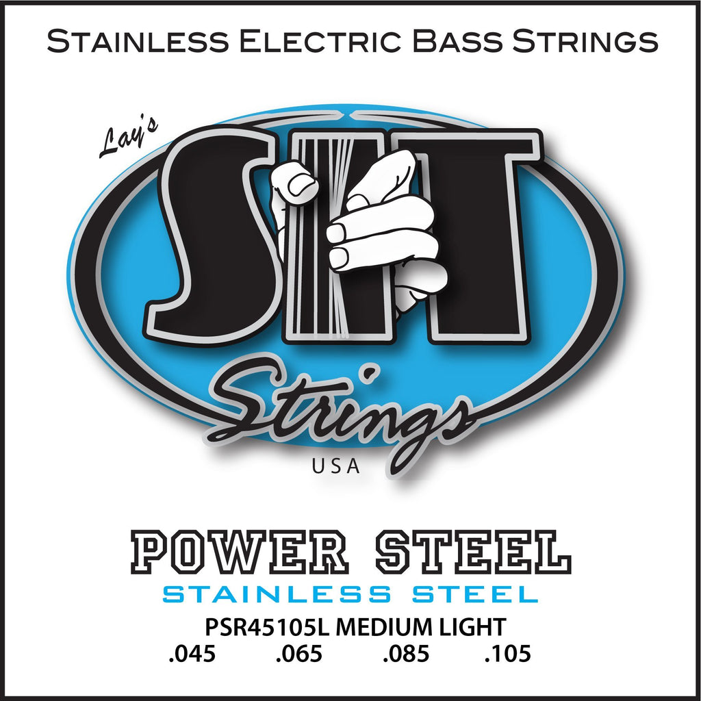 PSR45105L MEDIUM-LIGHT POWER STEEL STAINLESS BASS      SIT STRING