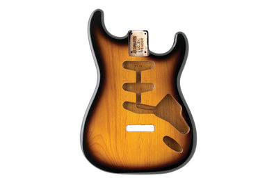 SBF-2SB 2-Tone Sunburst Finished Replacement Body for Strat® TOKIWA Tremolo - HIENDGUITAR.COM