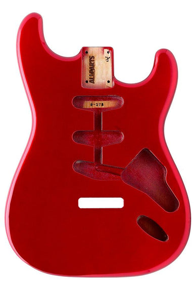 SBF-CAR Candy Apple Red Finished Replacement Body for Strat® TOKIWA - HIENDGUITAR.COM
