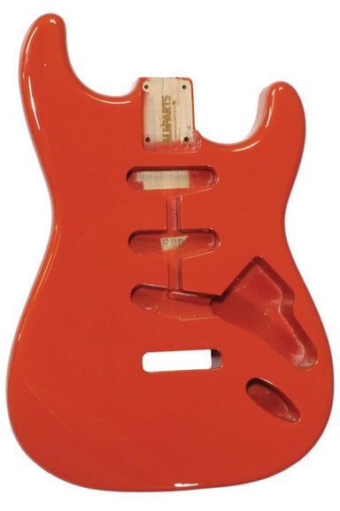 SBF-FR Fiesta Red Finished Replacement Body for Strat® TOKIWA - HIENDGUITAR.COM