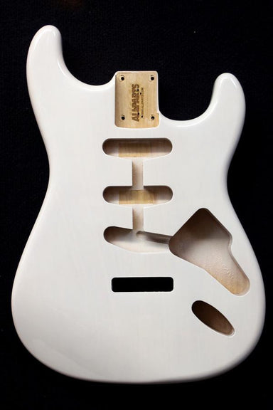 SBF-WH See-through White Finished Replacement Body for Strat® TOKIWA - HIENDGUITAR.COM