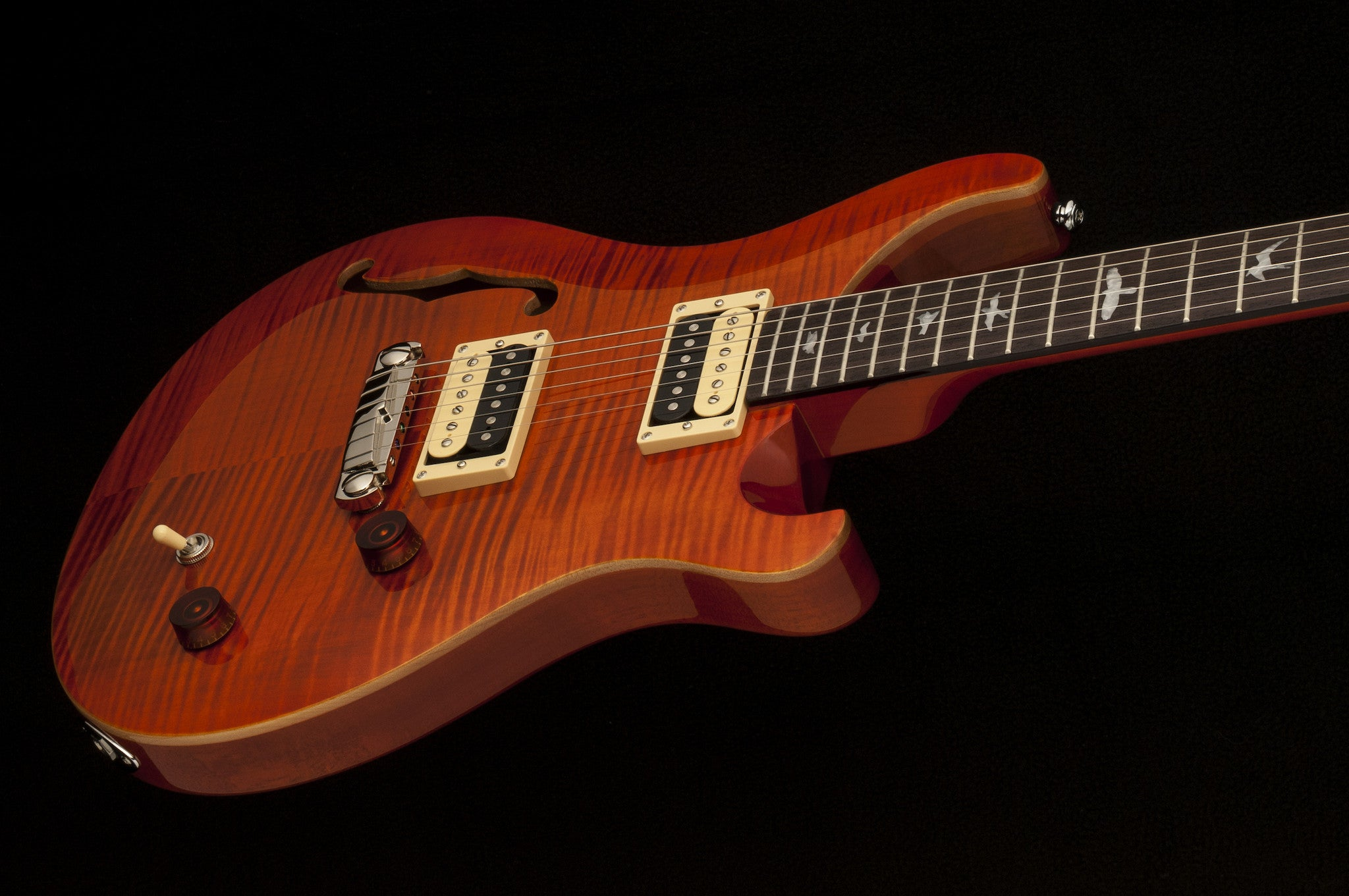 PRS SE Custom 22 Semi-Hollow (NEW!) Orange PRS SE - HIENDGUITAR.COM
