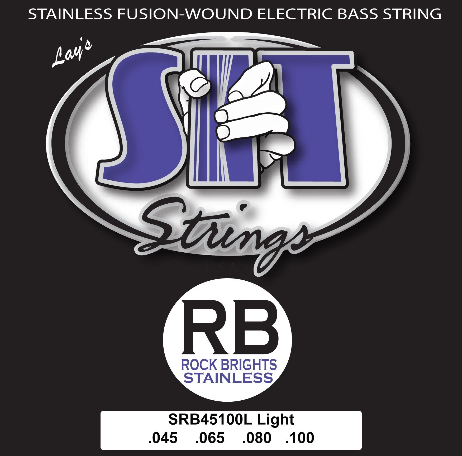 SRB45100L LIGHT ROCK BRIGHT STAINLESS BASS SIT STRING SIT - HIENDGUITAR.COM