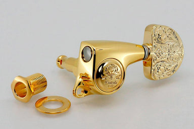 TK-7976 Gotoh SGL510Z-A60LX 3x3 Engraved Keys KMS SHOKAI CO., LTD. Gold - HIENDGUITAR.COM