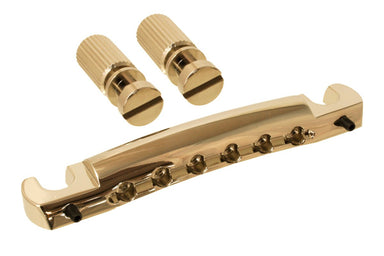 TP-3407 Gotoh Featherweight Stop Tailpiece with Adjustment Screws KMS SHOKAI CO., LTD. Gold - HIENDGUITAR.COM